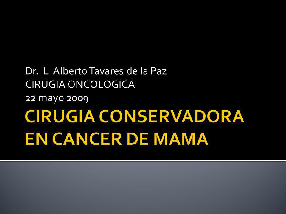 MARGENES positivos: 17.4 % negativos: 8.6 % RECURRENCIA Eur J Cancer 1995. 31A; 1574