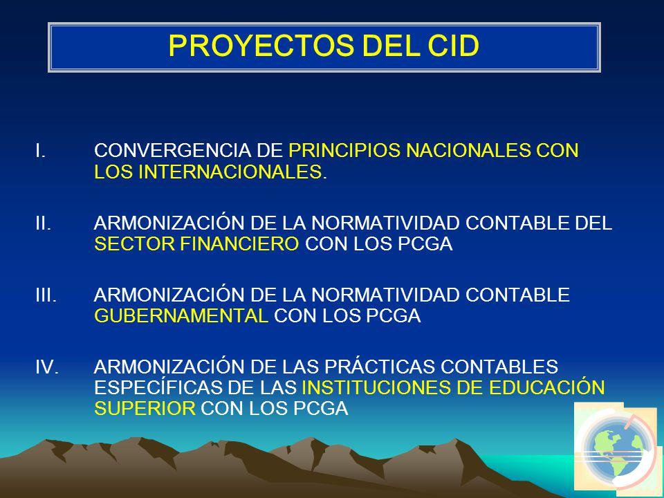 I.CONVERGENCIA DE PRINCIPIOS NACIONALES CON LOS INTERNACIONALES.