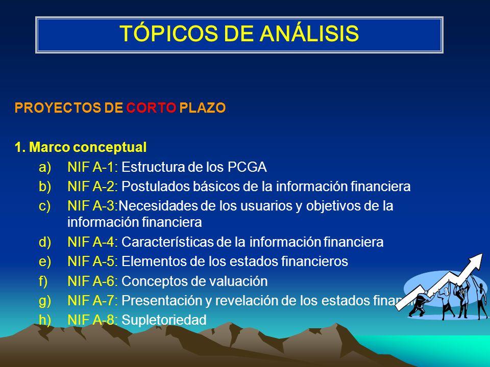 PROYECTOS DE CORTO PLAZO 1.