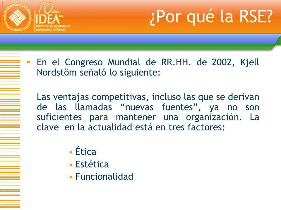 En el Congreso Mundial de RR.HH. de 2002, Kjell Nordstöm señaló lo siguiente: Las ventajas competitivas, incluso las que se derivan de las llamadas nu