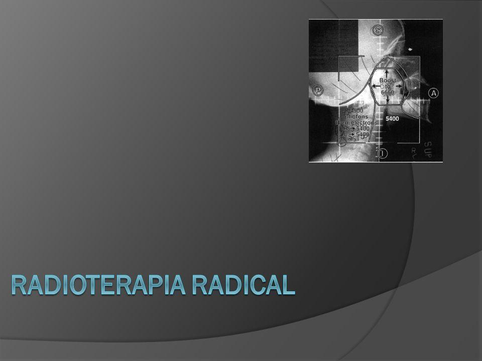 DOSIS DE TOLERANCIA RTERCx ÓrganoDosis (Gy)ÓrganoDosis (Gy) Cerebro total50Tallo cerebral12 Cerebro parcial60Nervio óptico8 Tallo cerebral54Quiasma óptico8 Médula espinal45Vías visuales.12 Quiasma óptico50 – 54 Retina45 Oído interno30 Glándula lacrimal30 / 60 Perez and Bradys.