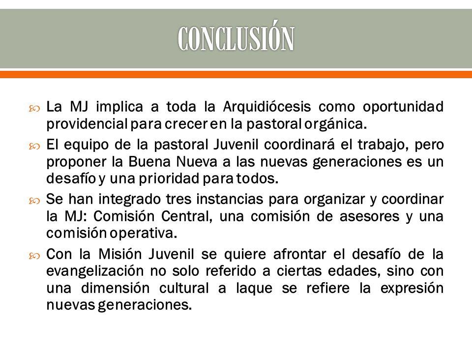 La MJ implica a toda la Arquidiócesis como oportunidad providencial para crecer en la pastoral orgánica.
