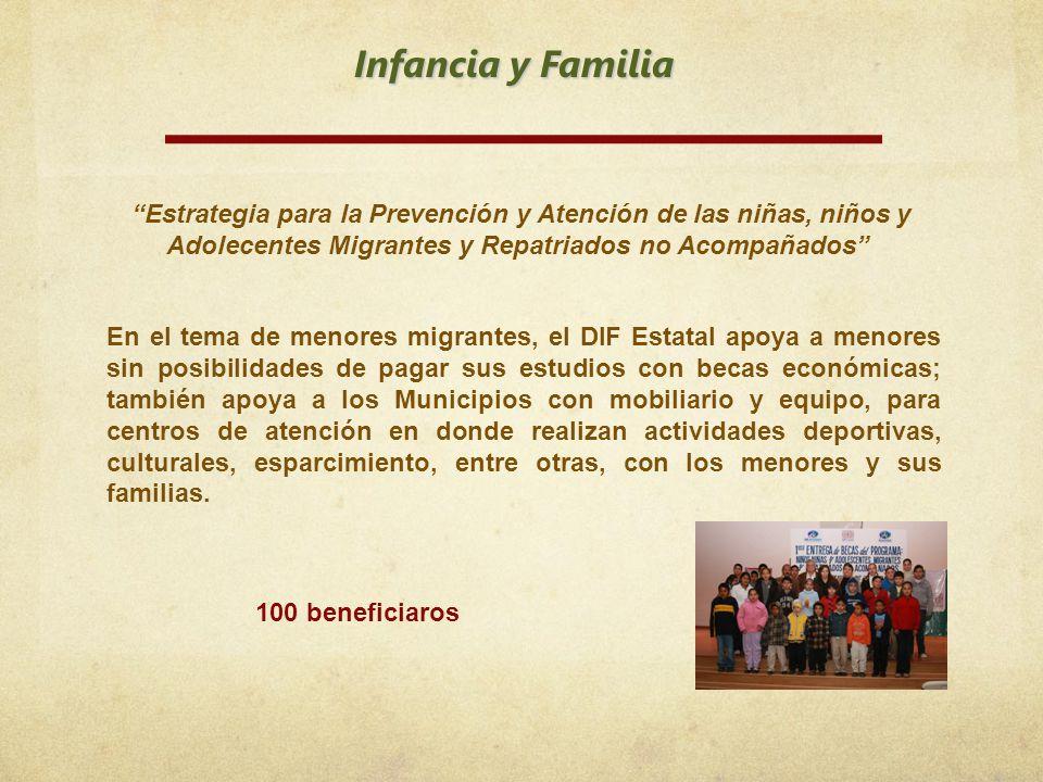 Infancia y Familia Estrategia para la Prevención y Atención de las niñas, niños y Adolecentes Migrantes y Repatriados no Acompañados En el tema de men