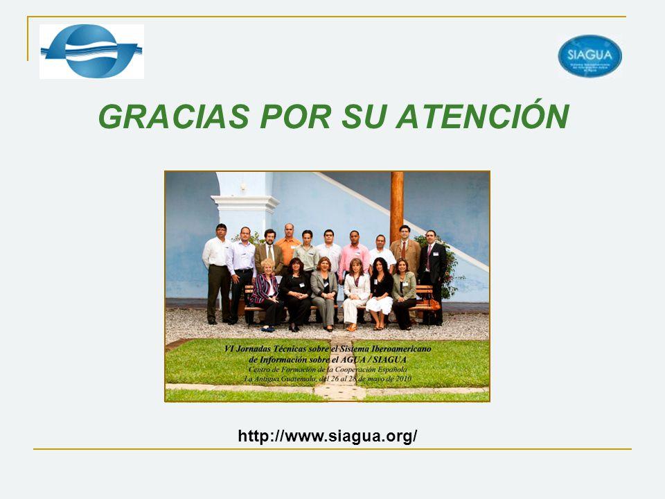 GRACIAS POR SU ATENCIÓN http://www.siagua.org/