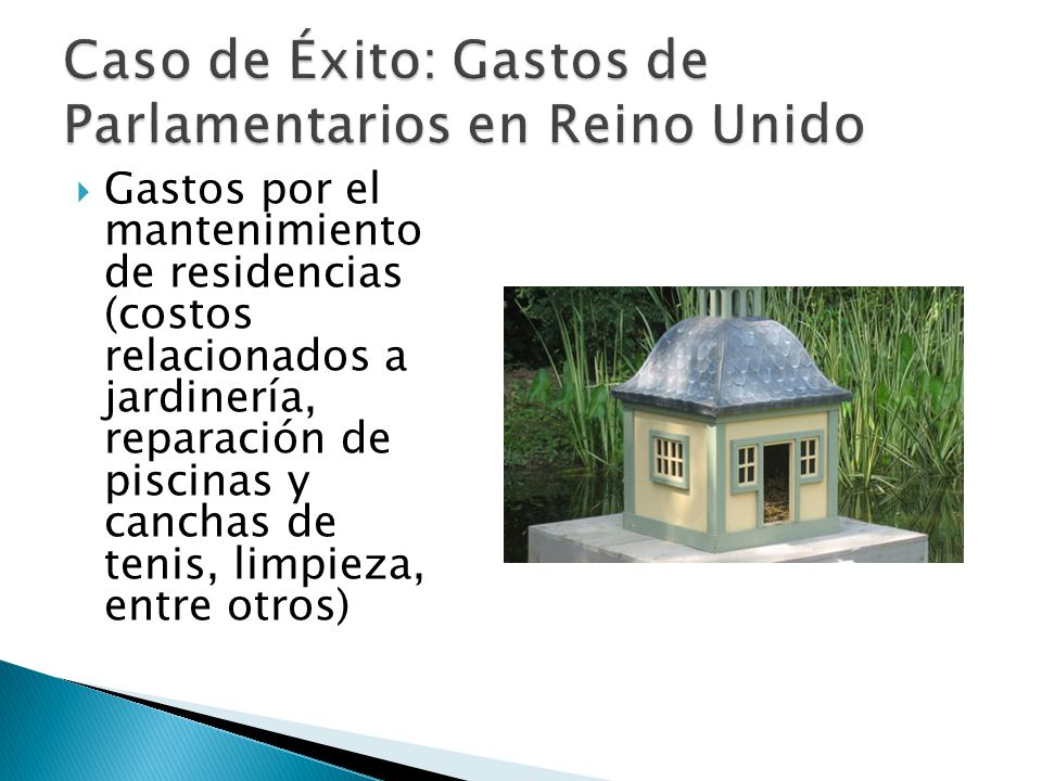 Gastos por el mantenimiento de residencias (costos relacionados a jardinería, reparación de piscinas y canchas de tenis, limpieza, entre otros)