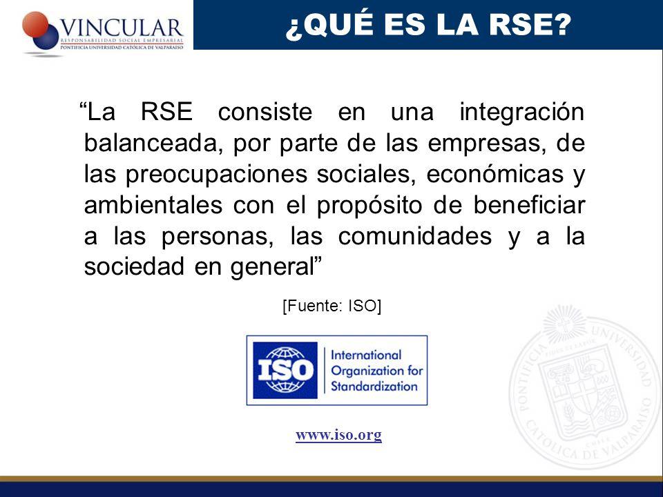 La RSE consiste en una integración balanceada, por parte de las empresas, de las preocupaciones sociales, económicas y ambientales con el propósito de