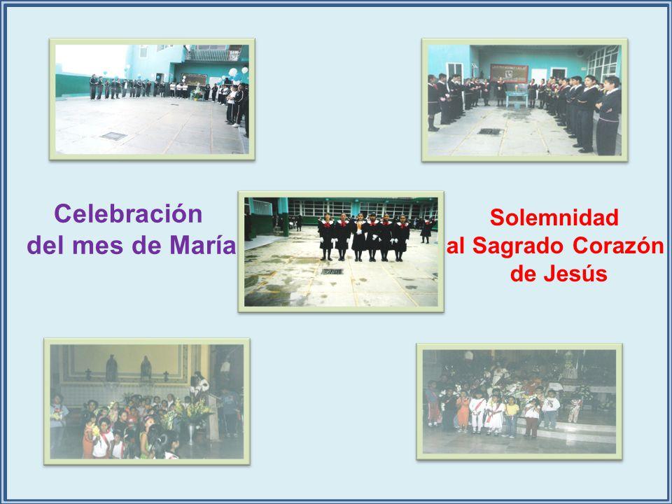 Celebración del mes de María Solemnidad al Sagrado Corazón de Jesús