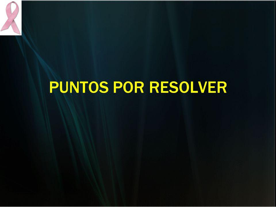 PUNTOS POR RESOLVER