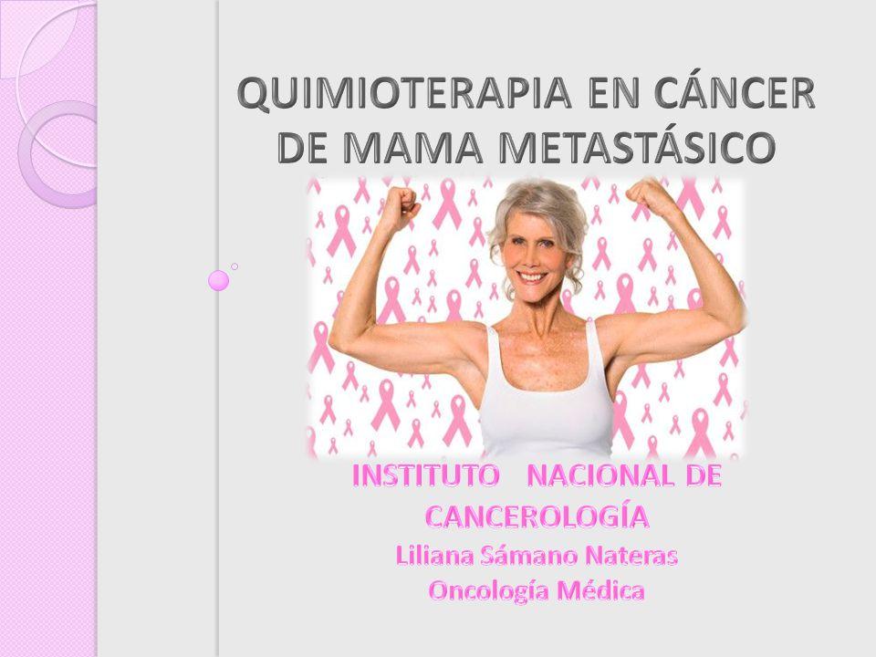 ER + y/o RP PLE prolongado HT QT ER - y/o RP PLE corto Rápida progresión visceral Terapia endocrina refractaria BISFOSFONATOS TRASTUZUMAB METÁSTASIS ÓSEAS HER 2 NEU + SISTÉMICO Brest Cancer Research 2007;9:33-35