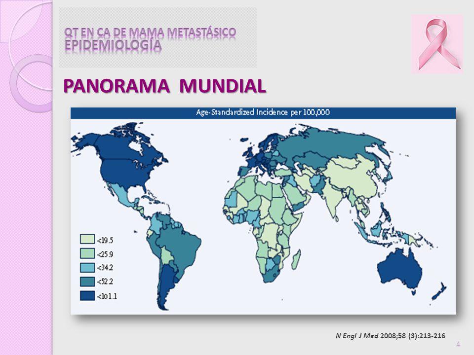 75 PROBLEMA DE SALUD MUNDIAL PRIMERA CAUSA DE MUERTE POR CÁNCER EN MUEJERES MEXICANAS ES UNA ENFERMEDAD HETEROGÉNEA TRATAMIENTO SERÁ INDIVIDUALIZADO QT EN CA DE MAMA ECIV TIENE COMO OBJETIVO CALIDAD DE VIDA
