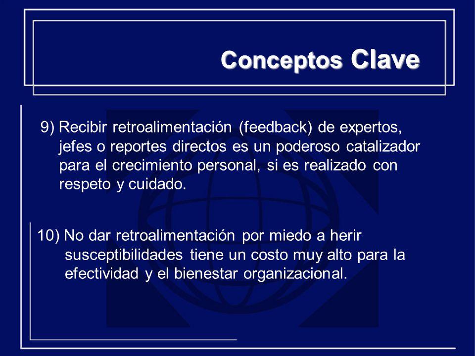 10) No dar retroalimentación por miedo a herir susceptibilidades tiene un costo muy alto para la efectividad y el bienestar organizacional.