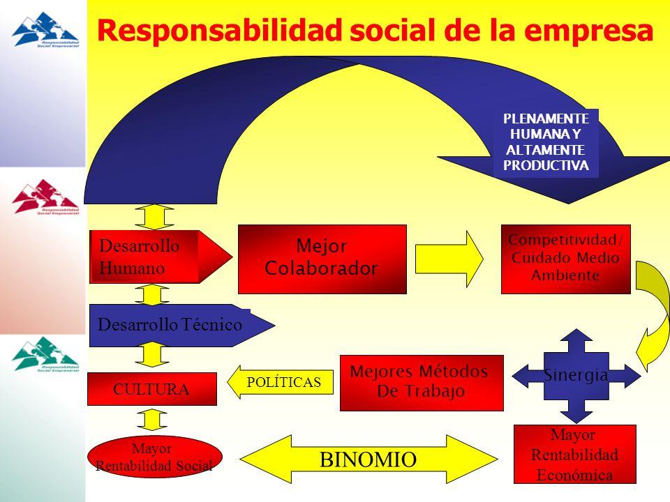 Desarrollo Humano Desarrollo Técnico Mejor Colaborador Competitividad/ Cuidado Medio Ambiente Sinergia Mejores Métodos De Trabajo CULTURA POLÍTICAS Ma
