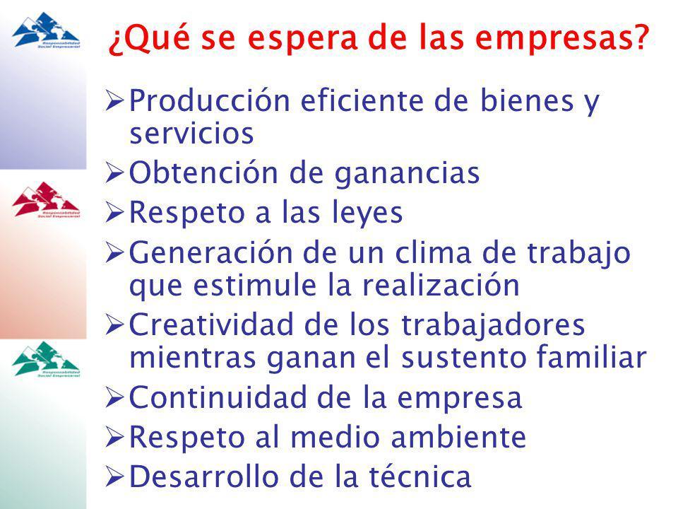 Sector público Código de ética del Presidente Fox SEFUPU: Empresa transparente Norma mexicana de RSE Sector privado También existen iniciativas nacionales Concamin Aval Compite ALIARSE (Cemefi) Fechac