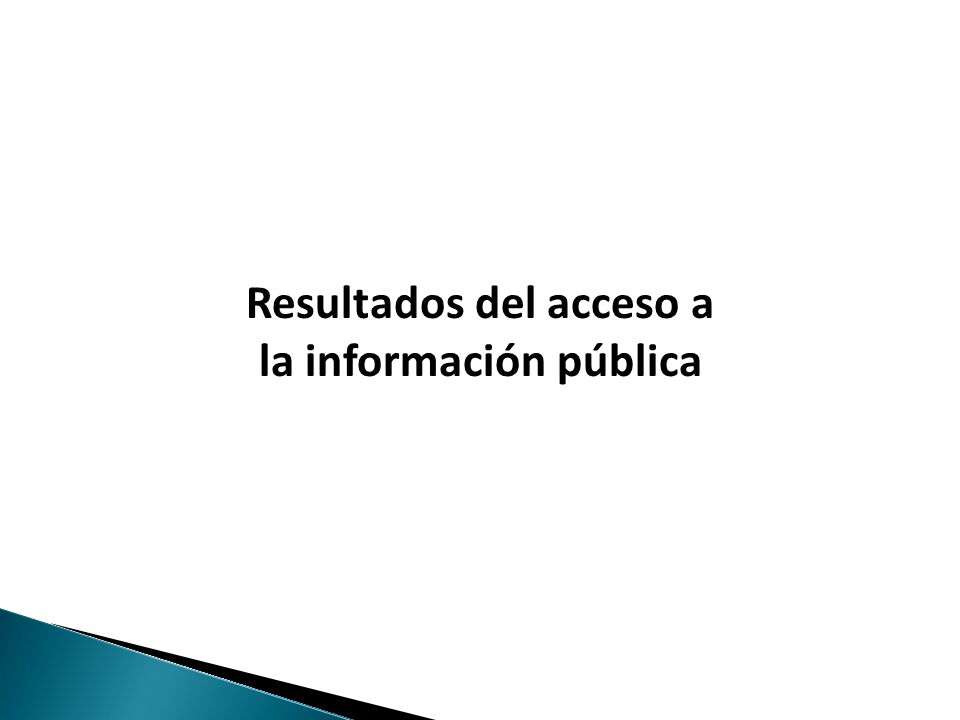 Haga clic para modificar el estilo de texto del patrón Resultados del acceso a la información pública