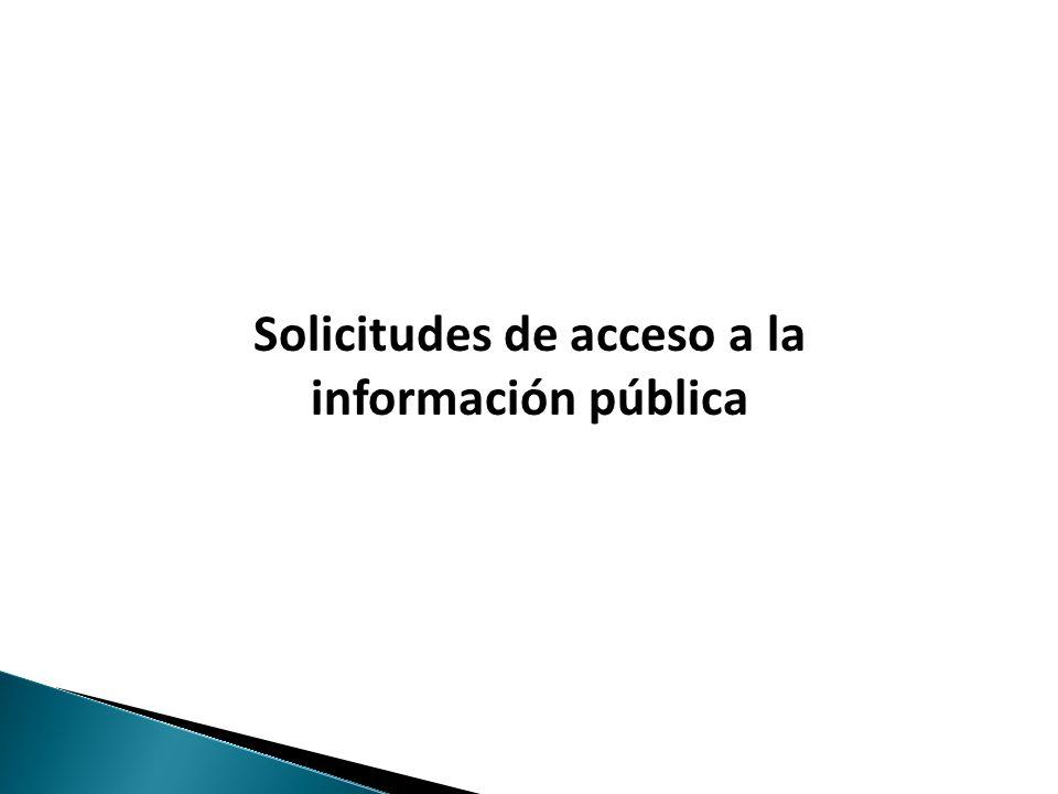 Haga clic para modificar el estilo de texto del patrón Solicitudes de acceso a la información pública