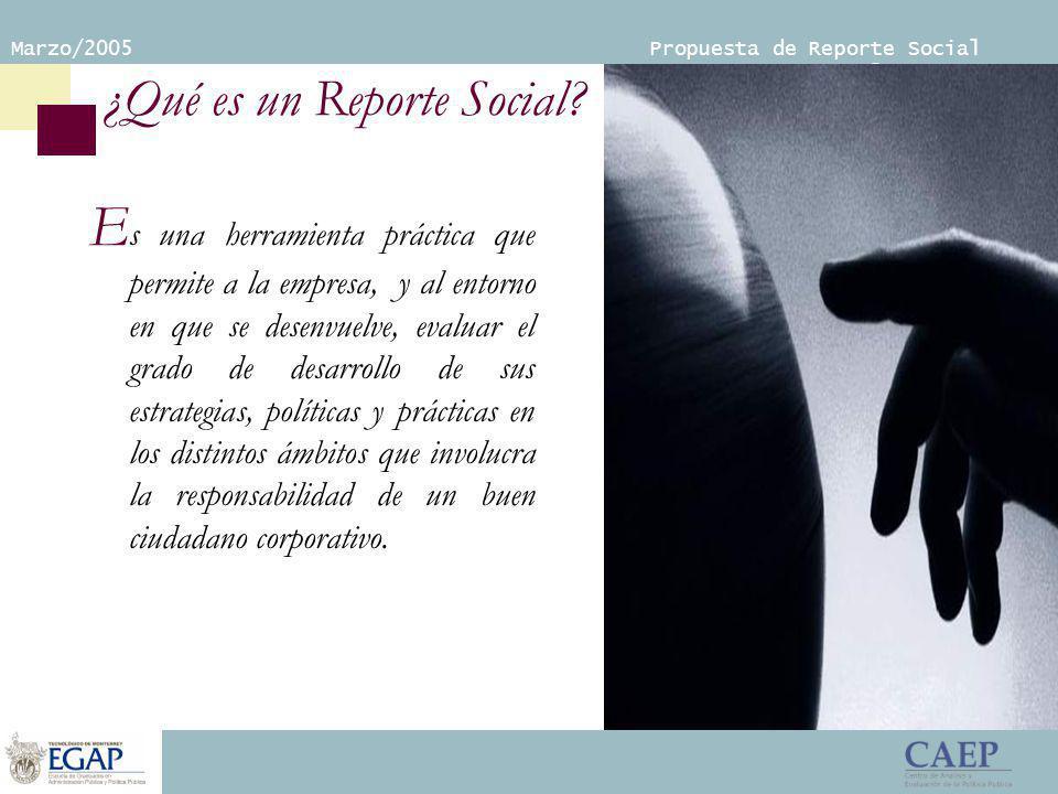Marzo/2005 Propuesta de Reporte Social Empresarial ¿Qué es un Reporte Social.