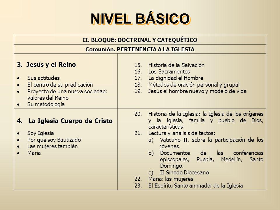 III.BLOQUE: SOCIO-CULTURAL Servicio. ELCOMPROMISO APOSTÓLICO 5.