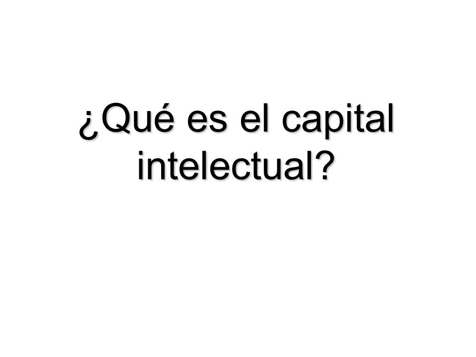 ¿Qué es el capital intelectual?