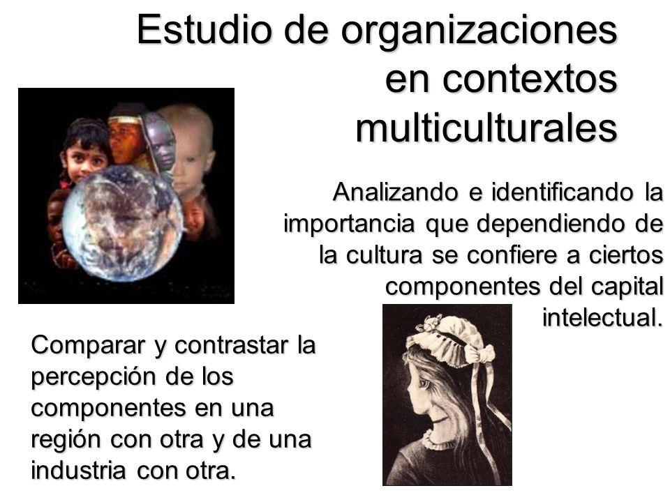 Estudio de organizaciones en contextos multiculturales Analizando e identificando la importancia que dependiendo de la cultura se confiere a ciertos c