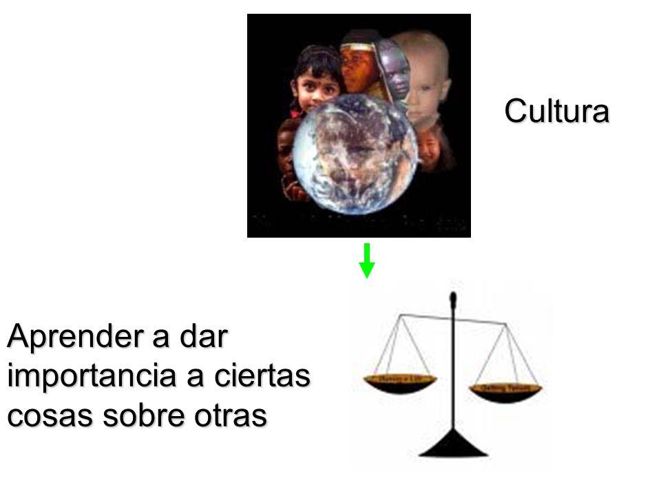 Aprender a dar importancia a ciertas cosas sobre otras Cultura