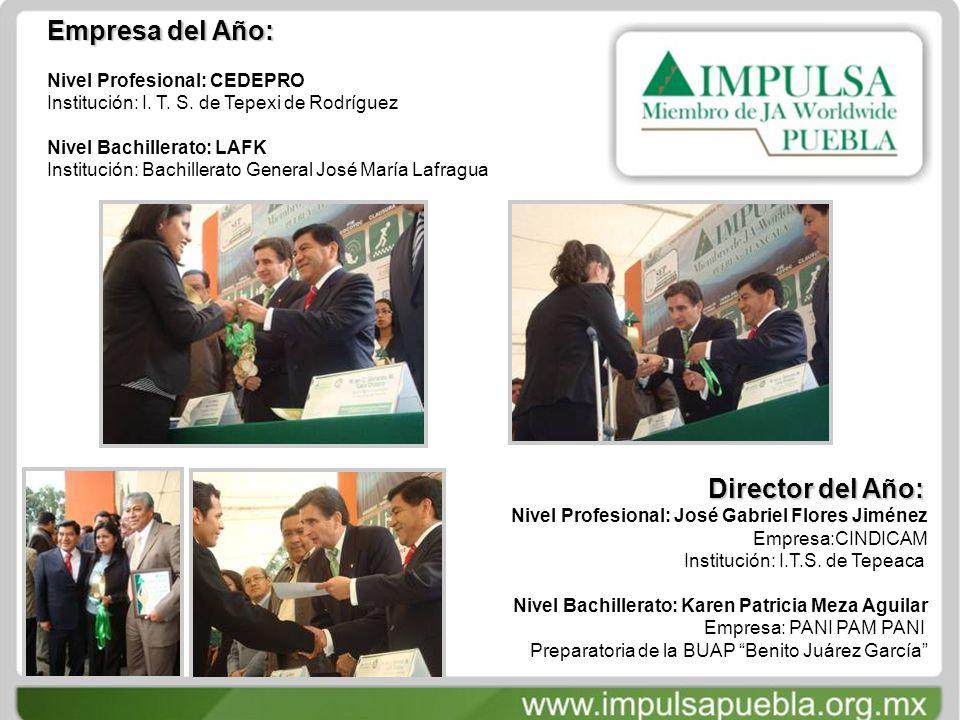 Empresa del Año: Nivel Profesional: CEDEPRO Institución: I.