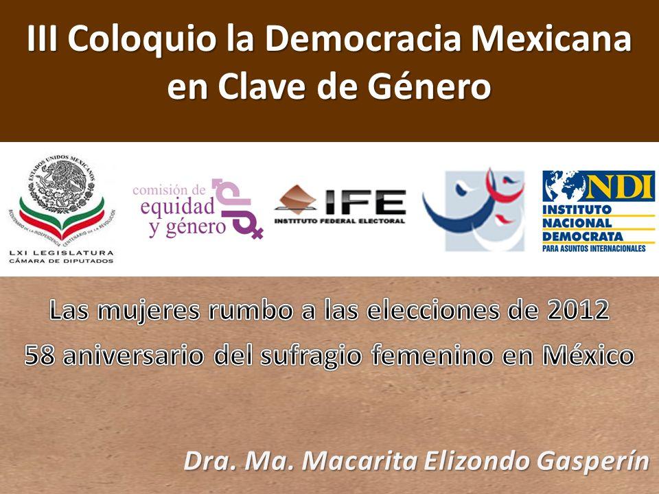 III Coloquio la Democracia Mexicana en Clave de Género