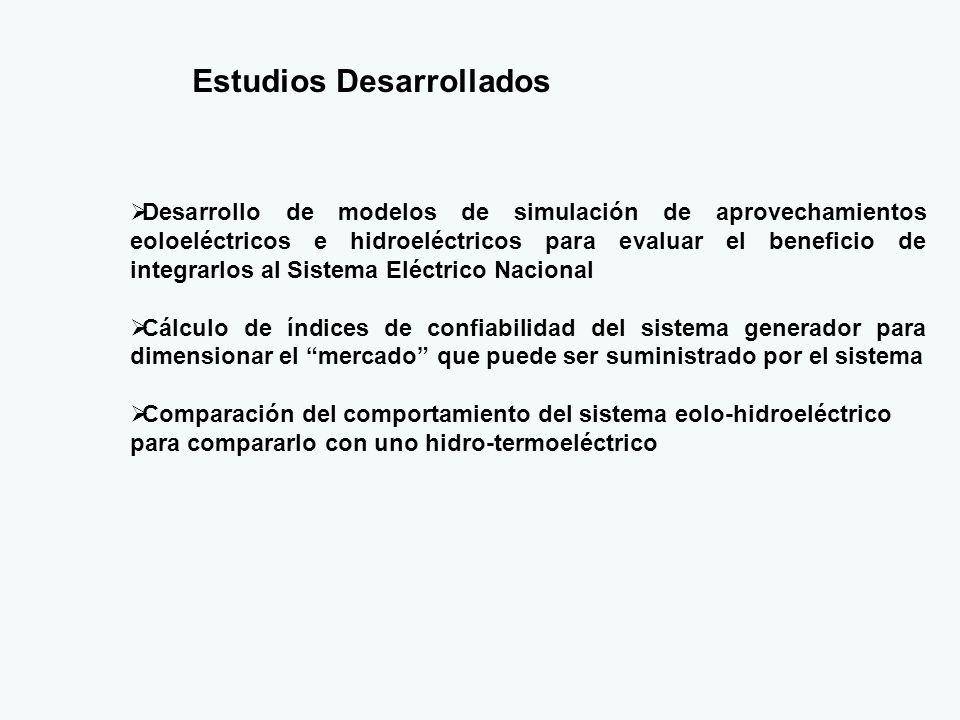 Criterios de evaluación de beneficios de un parque generador Se desea comparar los beneficios derivados de un proyecto de generación eléctrica de acuerdo a los parámetros siguientes: 1.Energía generada en un período de tiempo determinado 2.Capacidad (en MW) agregada al sistema con el proyecto 3.Mejoramiento de la calidad entendida como confiabilidad o garantía de suministro En México se utilizan explícitamente los conceptos 1 y 2