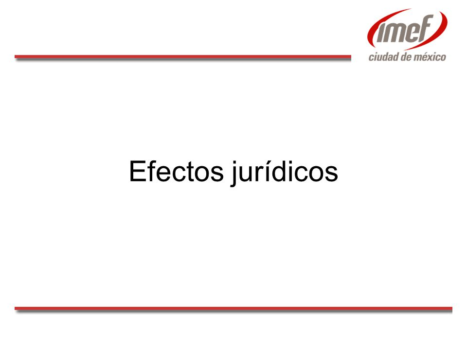 Efectos jurídicos