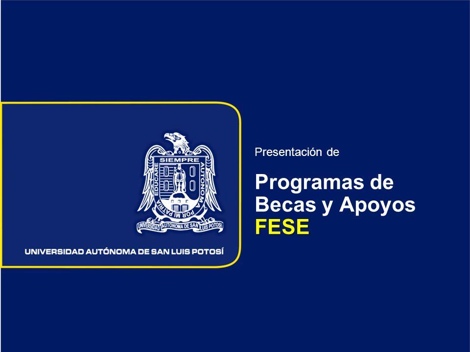 FESE Presentación de Programas de Becas y Apoyos FESE