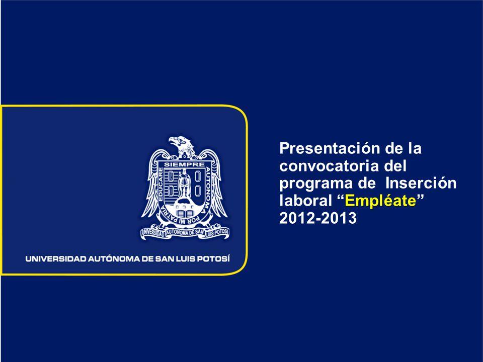 Empléate Presentación de la convocatoria del programa de Inserción laboral Empléate 2012-2013