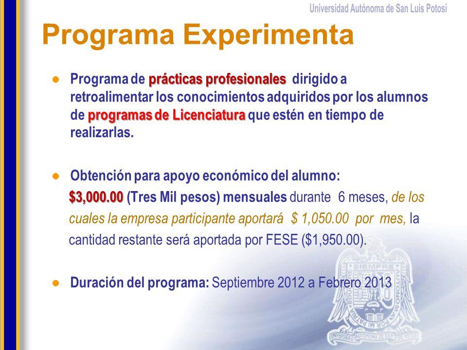 prácticas profesionales programas de Licenciatura Programa de prácticas profesionales dirigido a retroalimentar los conocimientos adquiridos por los a