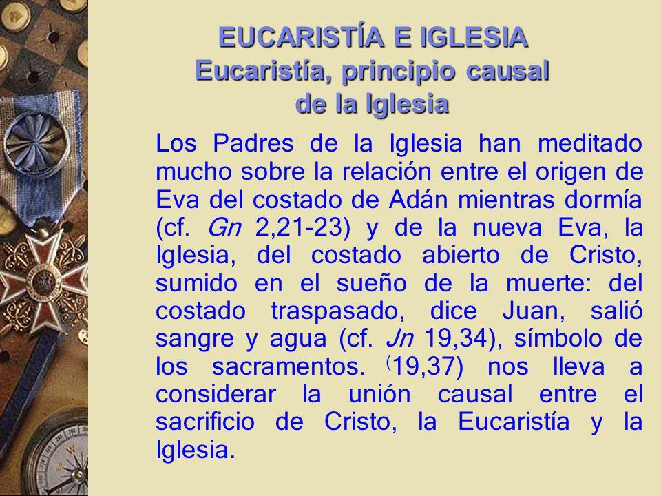 Los Padres de la Iglesia han meditado mucho sobre la relación entre el origen de Eva del costado de Adán mientras dormía (cf.