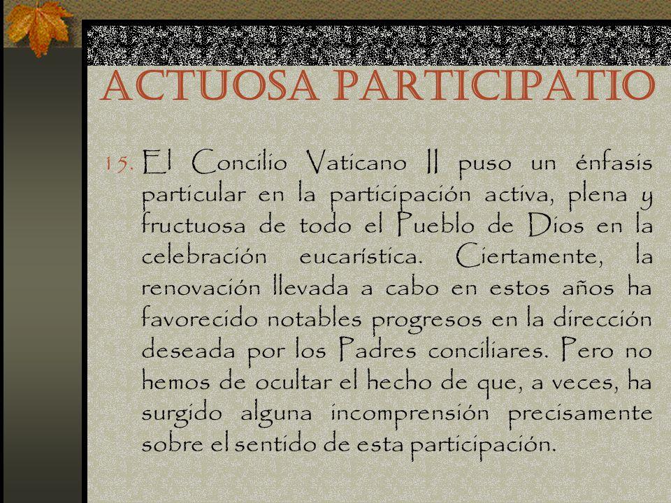 ACTUOSA PARTICIPATIO 15.
