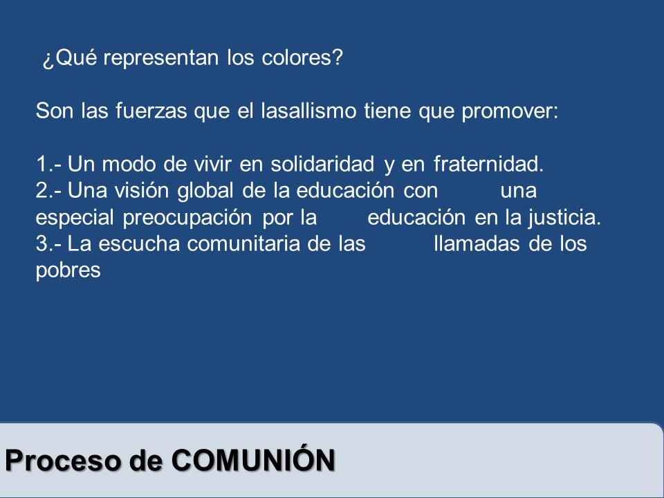 Proceso de COMUNIÓN ¿Qué representan los colores.