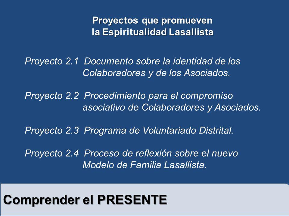 Comprender el PRESENTE Proyecto 2.1 Documento sobre la identidad de los Colaboradores y de los Asociados.
