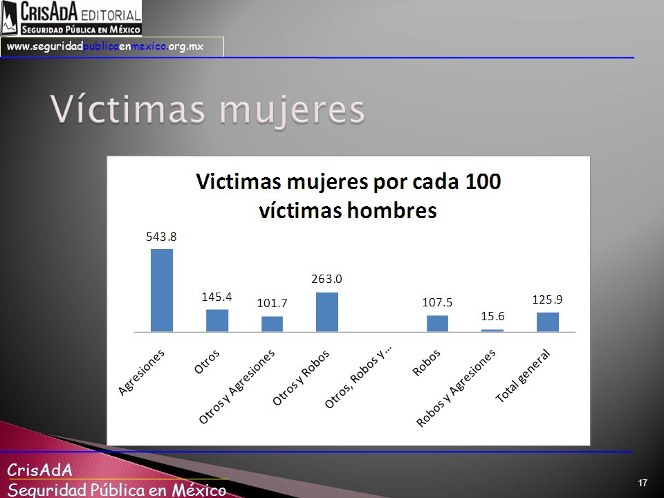 CrisAdA Seguridad Pública en México www.seguridadpublicaenmexico.org.mx 17