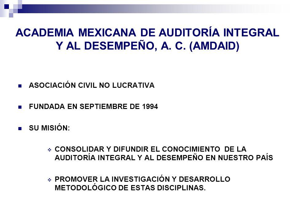 ACADEMIA MEXICANA DE AUDITORÍA INTEGRAL Y AL DESEMPEÑO, A.