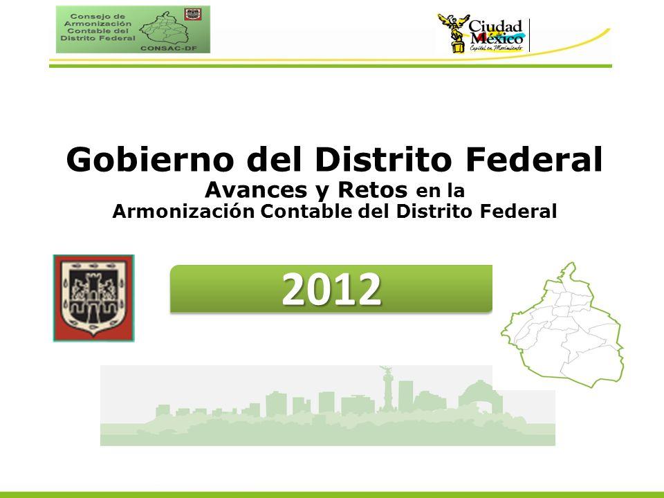 20122012 Gobierno del Distrito Federal Avances y Retos en la Armonización Contable del Distrito Federal