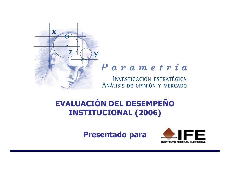 EVALUACIÓN DEL DESEMPEÑO INSTITUCIONAL (2006) Presentado para