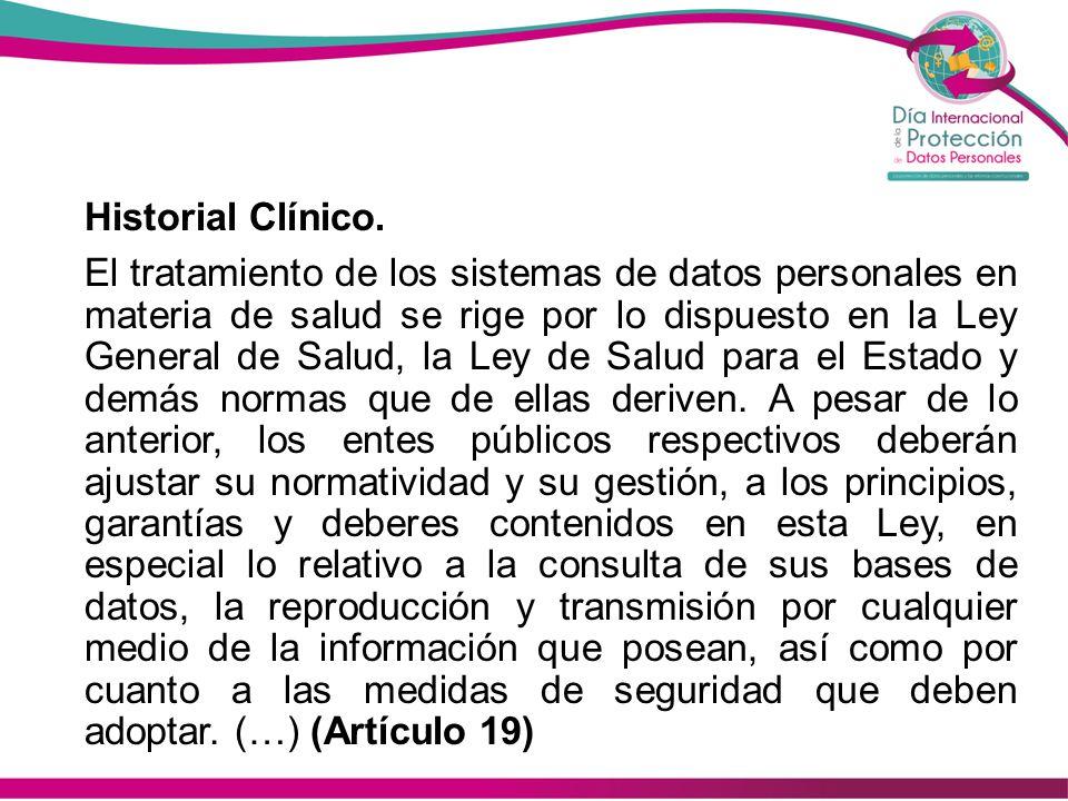 Historial Clínico.