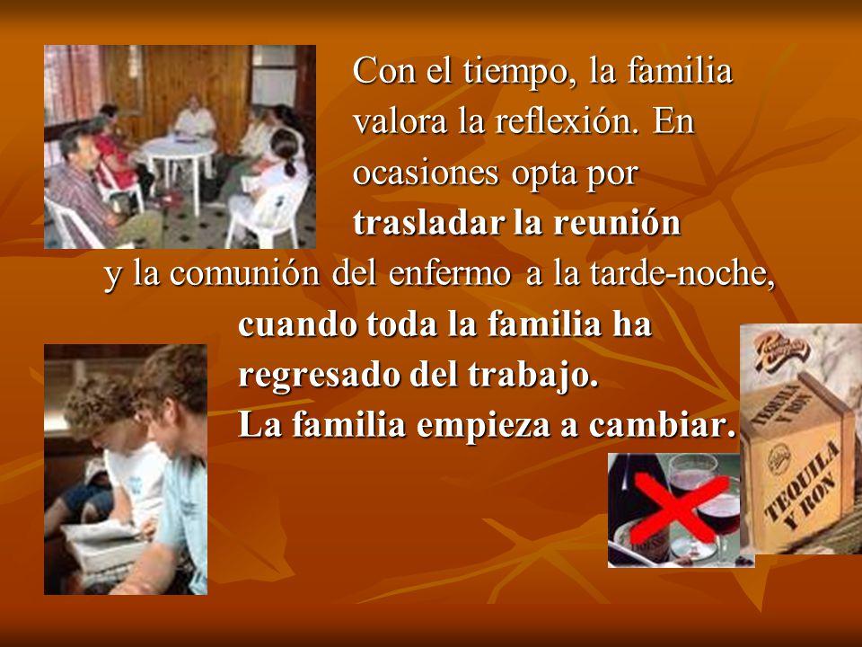 Con el tiempo, la familia Con el tiempo, la familia valora la reflexión. En valora la reflexión. En ocasiones opta por ocasiones opta por trasladar la