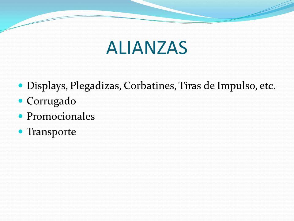 ALIANZAS Displays, Plegadizas, Corbatines, Tiras de Impulso, etc.