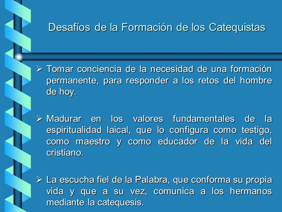 Las Dimensiones de la Formación El Ser: Hace referencia a la dimensión humana y cristiana del catequista, que le ayuda a madurar, como persona, como c