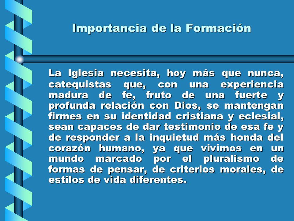 La apertura a la Iglesia, de la cual es miembro y a la cual trata de construir con su labor catequística.