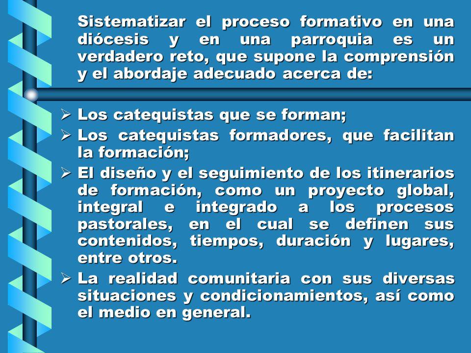 La formación de los catequistas ha de estar integrada en la opción fundamental de cada cristiano y por consiguiente, en su proyecto vocacional. El DGC