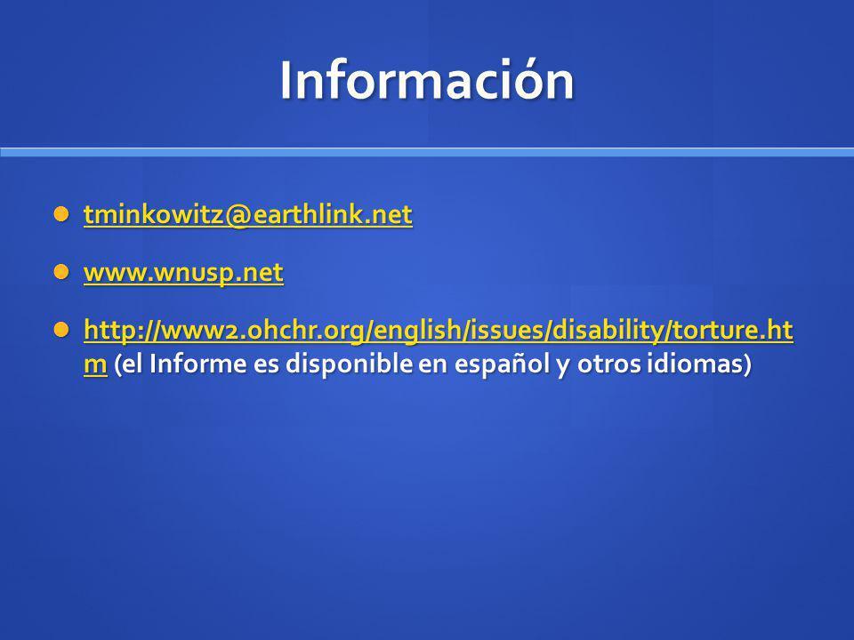 Información tminkowitz@earthlink.net tminkowitz@earthlink.net tminkowitz@earthlink.net www.wnusp.net www.wnusp.net www.wnusp.net http://www2.ohchr.org