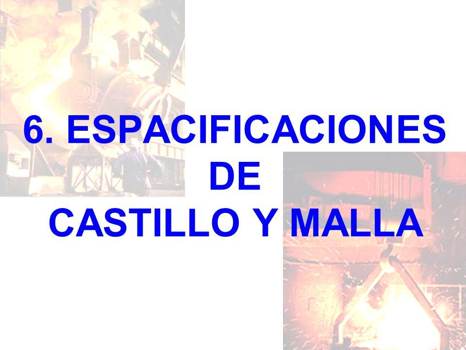 6. ESPACIFICACIONES DE CASTILLO Y MALLA