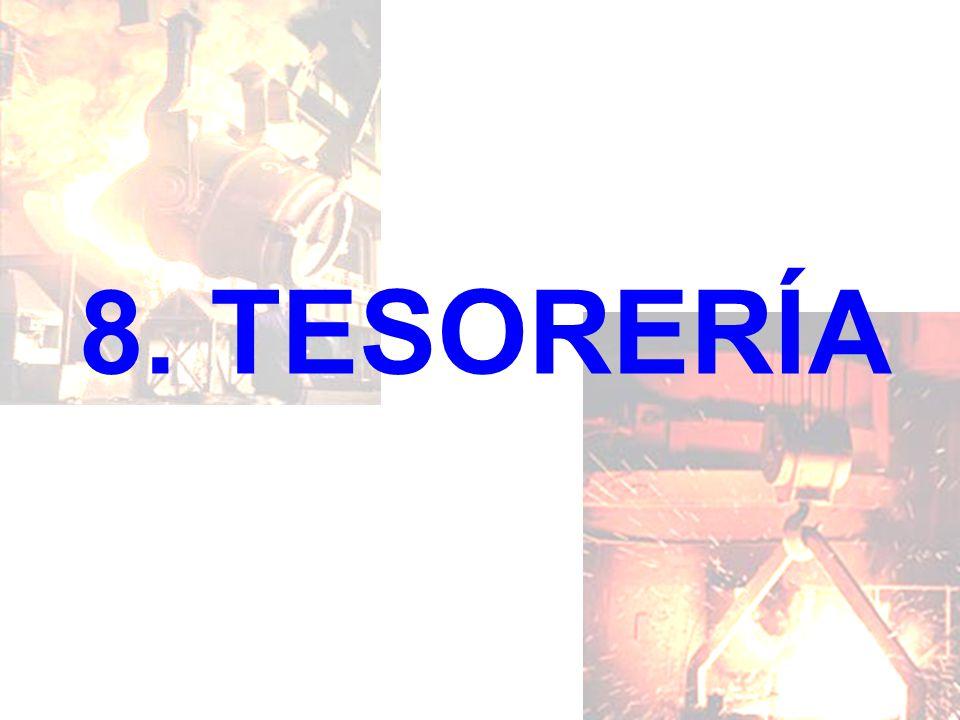 8. TESORERÍA