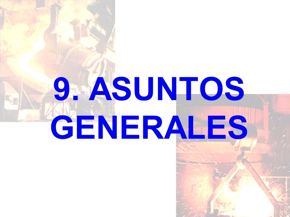 9. ASUNTOS GENERALES