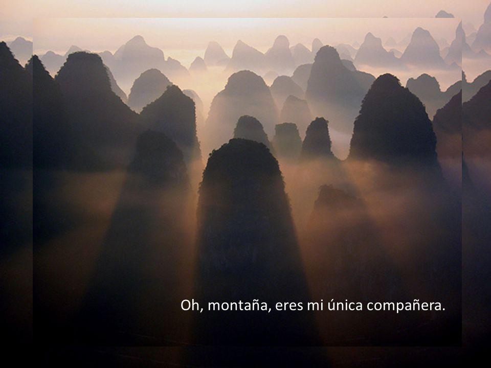 Oh, montaña, eres mi única compañera.